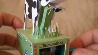 Moving Papercraft Cow Automata 'Ruminations'