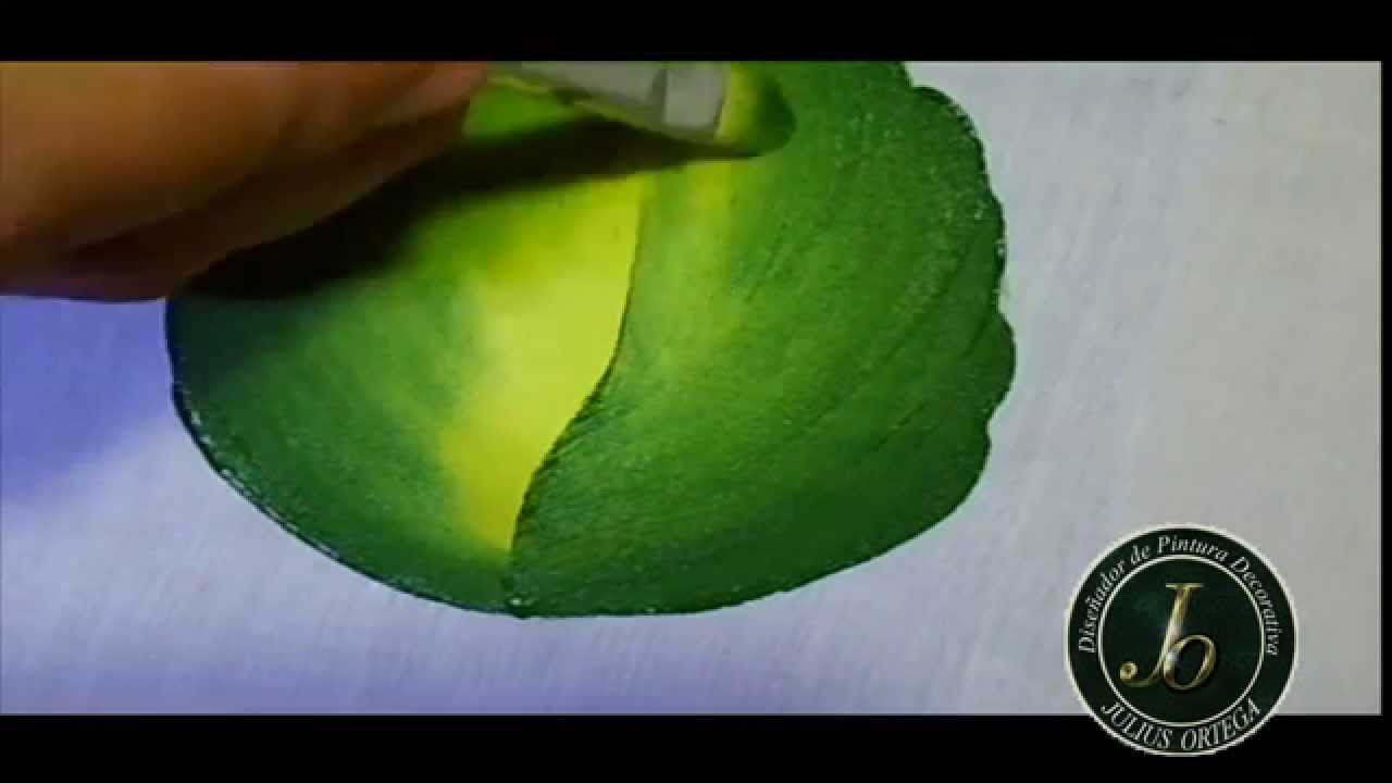 Como pintar hojas en tela folhas how to paint leaf - Pintar con acrilicos paso a paso ...