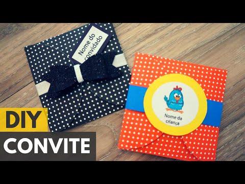 Convite De Aniversário Fácil |DIY - Faça Você Mesmo