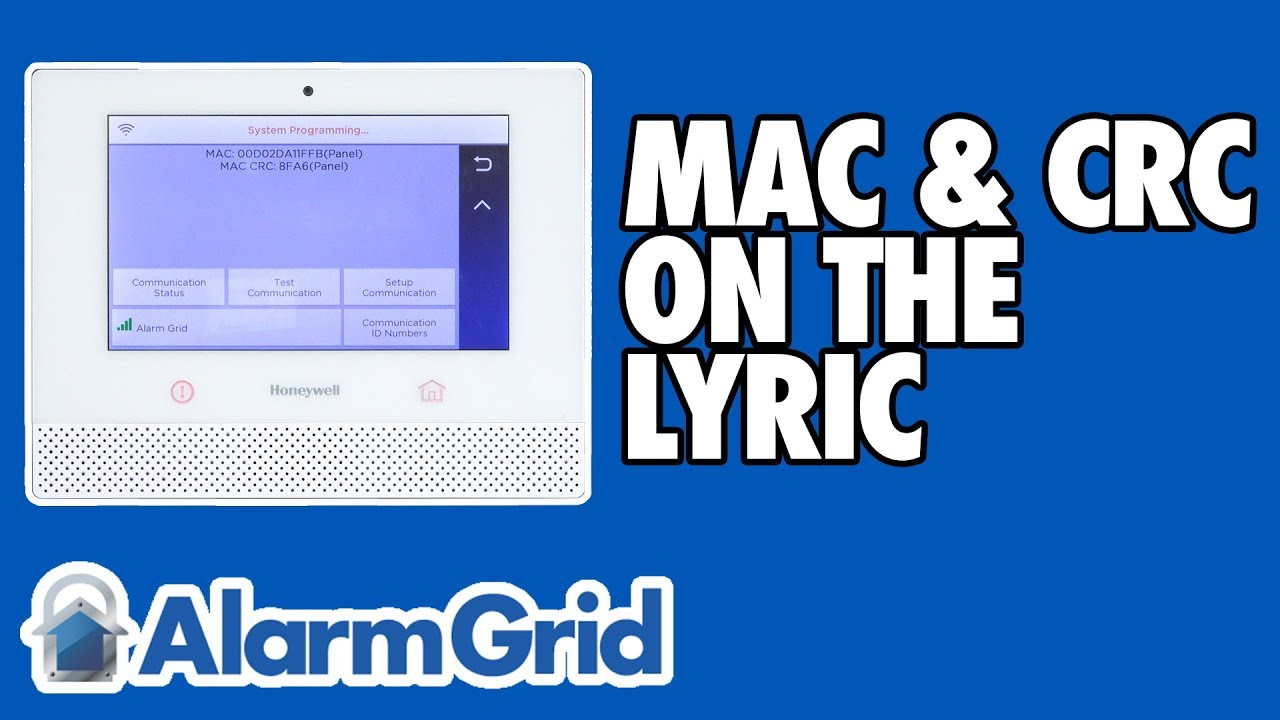 Finding the MAC and CRC on a Lyric Security System