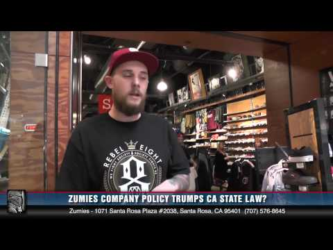 Zumiez Company Policy Trumps CA Law (or so says an employee from the Santa Rosa Plaza store)