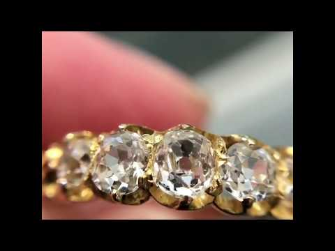 Antique Victorian five-stone diamond ring in 18-carat gold