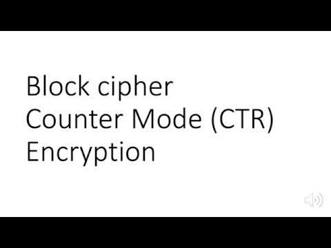 CounterMode CTR for Block Cipher Encryption and Decryption