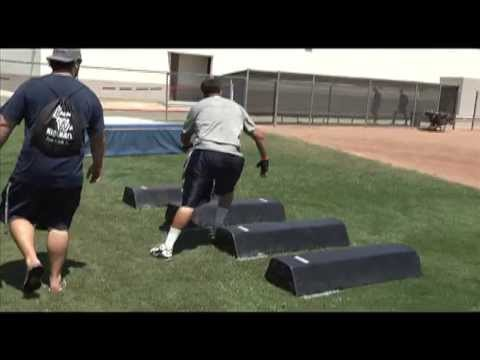 FOOTBALL: North Linemen Run Obstacle Course