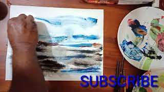 Watercolour painting with card||Nature ||Simple painting by MB world