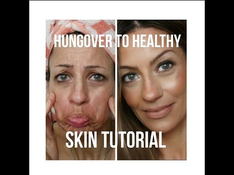 "HUNGOVER? How to ""fake"" healthy looking skin for mature skin OVER 40"