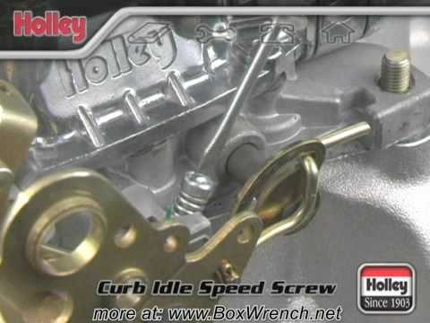 Setting Curb Idle Speed of Carburetor Video Holley Carb