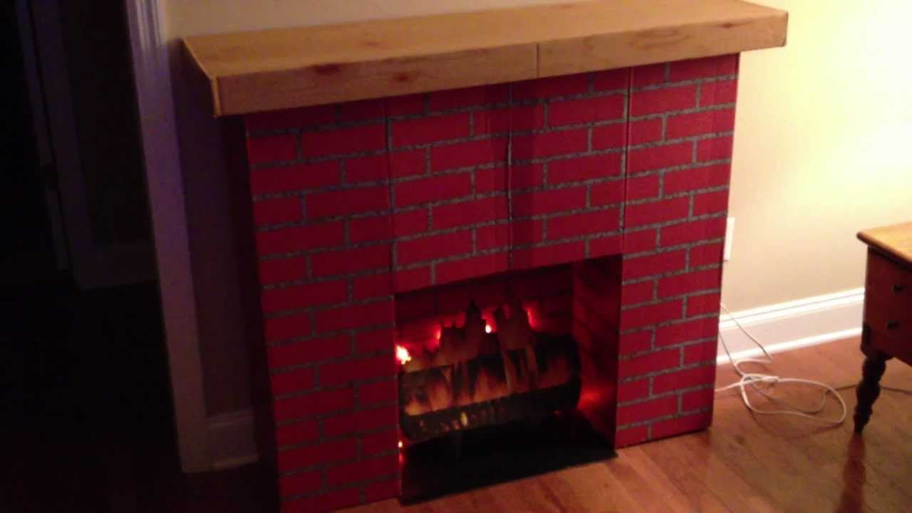 My Vintage Retro Faux Brick Christmas Fireplace With