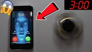DO NOT SPIN A FIDGET SPINNER WHEN TALKING TO SIRI AT 3AM!! *THIS IS WHY* (3AM SIRI CHALLENGE)