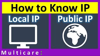 How to know IP address of my computer | Local IP and Public IP