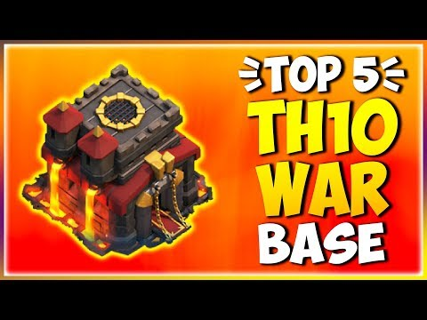 TOP 5 BEST NEW TH10 WAR BASE 2019! *WITH LINK* COC Town Hall 10 Anti 2 Star - Clash Of Clan [Part 5]