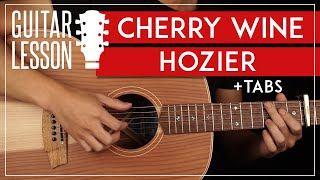Cherry Wine Guitar Tutorial 🍒🍷 Hozier Guitar Lesson |Fingerpicking + TAB|