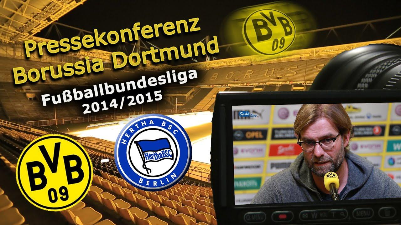 Borussia Dortmund - Hertha BSC : Bundesliga-Pk mit Jürgen Klopp