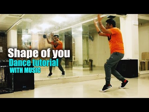 SHAPE OF YOU || Step by Step Dance Tutorial With Music || Rockstar Dance Studios