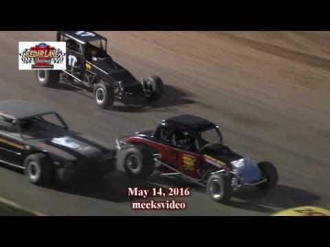5-14-2016 Vintage Cars A-Mains Cedar Lake Speedway