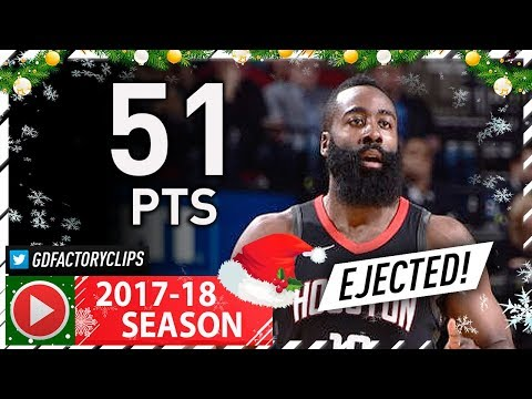 James Harden Full Highlights vs Clippers (2017.12.22) - 51 Pts, 8 Ast, EJECTED!