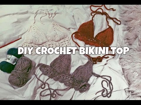 266e5994a53db DIY CROCHET BIKINI TOP TUTORIAL - YouTube