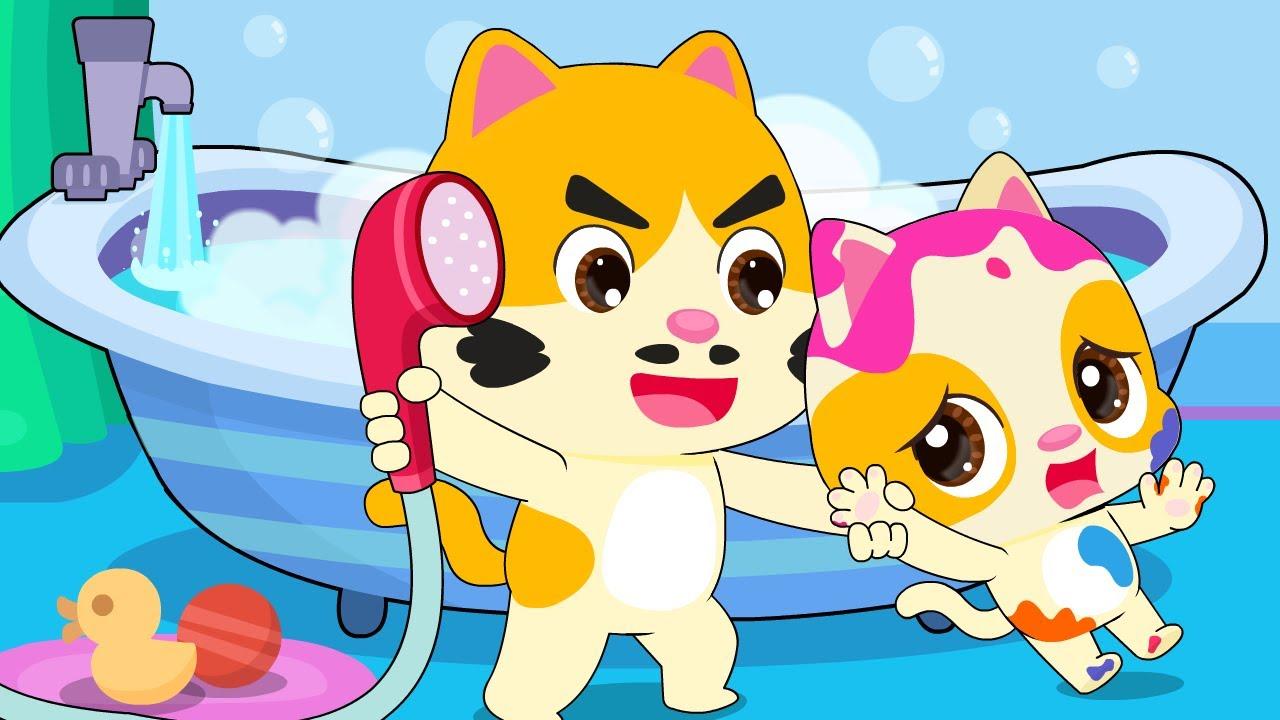 Пора Купаться🛀 | Котик Тими | Развивающая Песенка Для Малышей | Детская Песенка | BabyBus