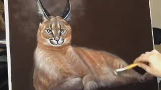 Painting a Caracal
