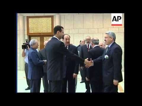 Iraqi PM Maliki meets Syrian President Assad