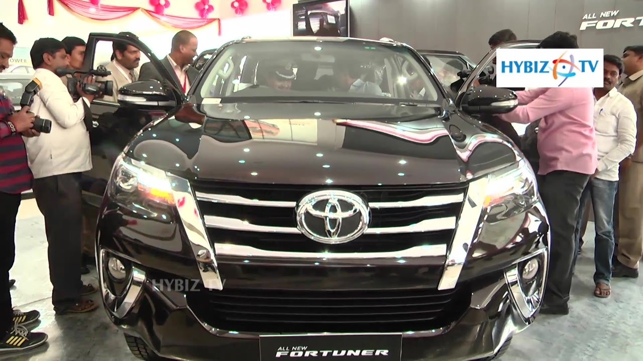 new car launches in hyderabadToyota New Fortuner 2016 Launched in Hyderabad  hybiz  YouTube