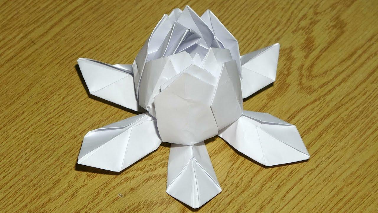 Flor de Loto de Papel Origami