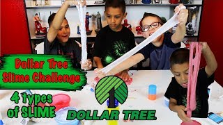 Dollar Tree Slime Challenge - Sand Slime, Silly string slime, foam ball slime and crunchy slime