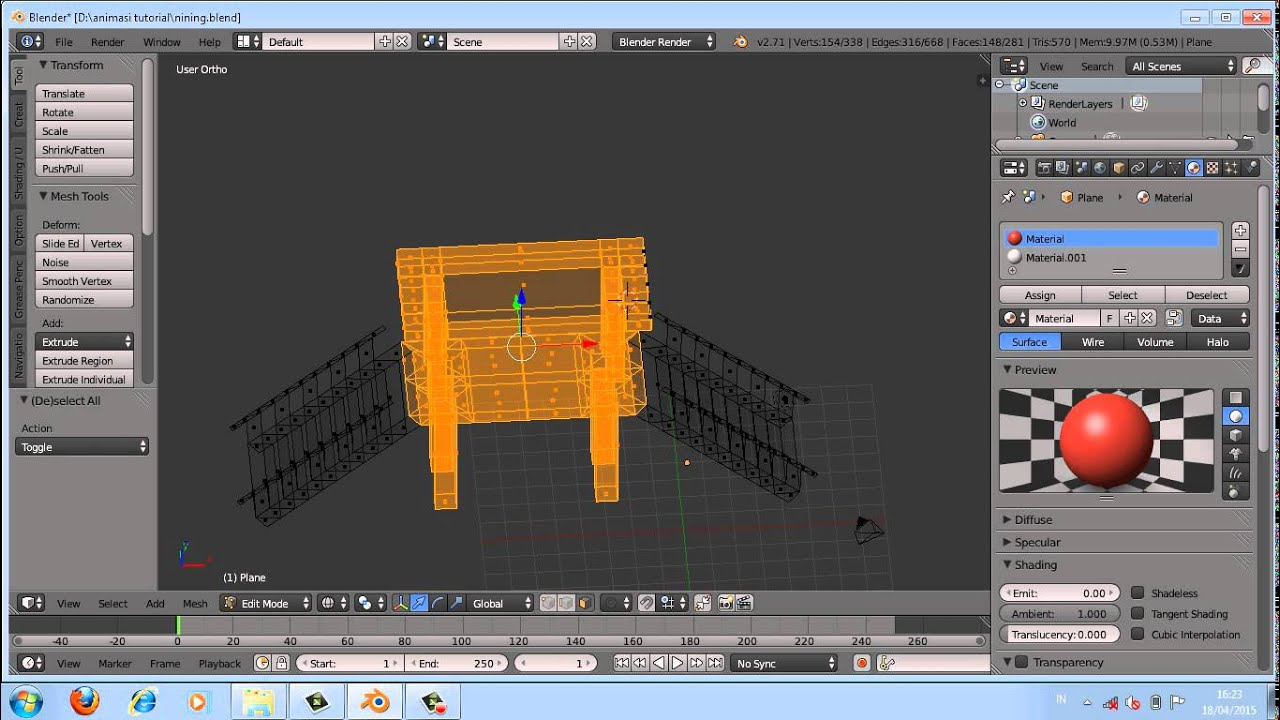 Tutorial Blender Mewarnai Jembatan Youtube