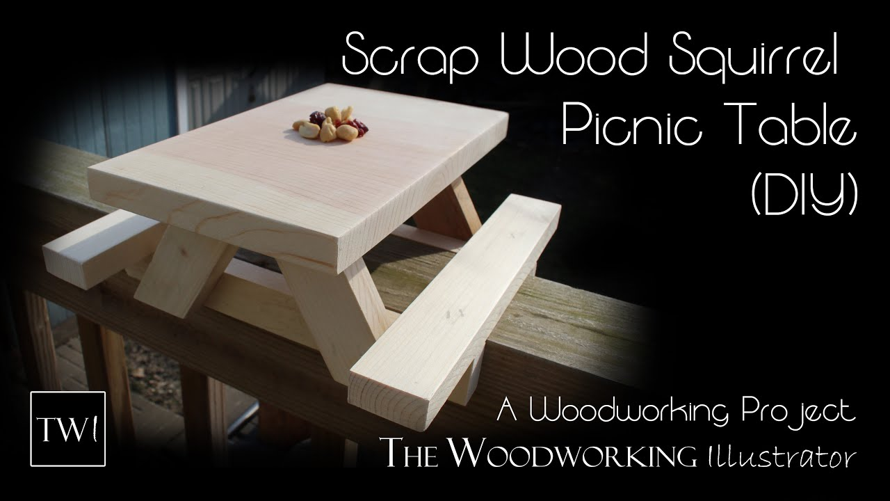 Scrap Wood Squirrel Picnic Table Diy Youtube