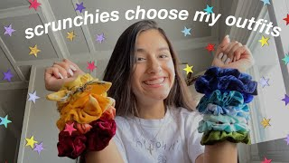 colored scrunchies choose my outfit for a week