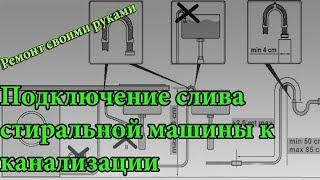 видео Как сделать слив для стиральной машины в канализацию?