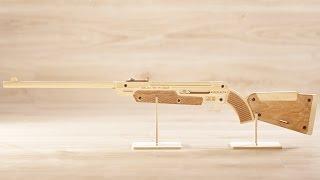 Оружие из дерева ружьё FORESTER/Wooden gun FORESTER