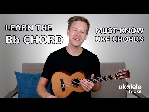 how-to-play-a-bb-major-chord-on-#ukulele