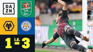 Foxes feiern Elfer-Killer Danny Ward: Wolverhampton - Leicester City 1:3 i.E. | Carabao Cup | DAZN