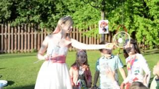 Красивое шоу мыльных пузырей для детей в Москве - Lisova Show