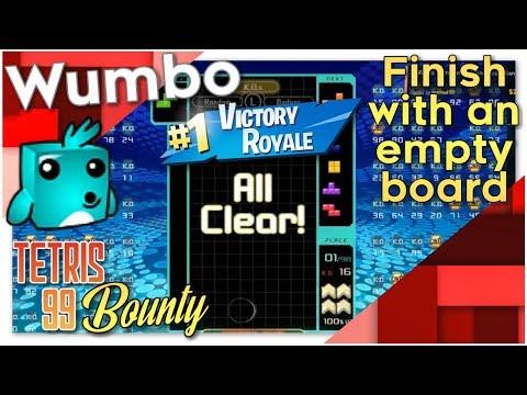 "Tetris 99 Bounty - ""Finish a win with an empty board"""