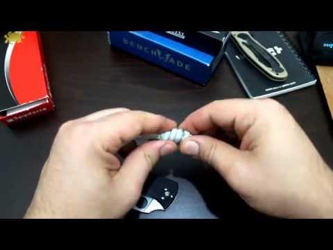 Çakı ve Bıçaklara ''İP BAĞLAMA'' tekniği - 4 (MATTHEW WALKER düğümü)