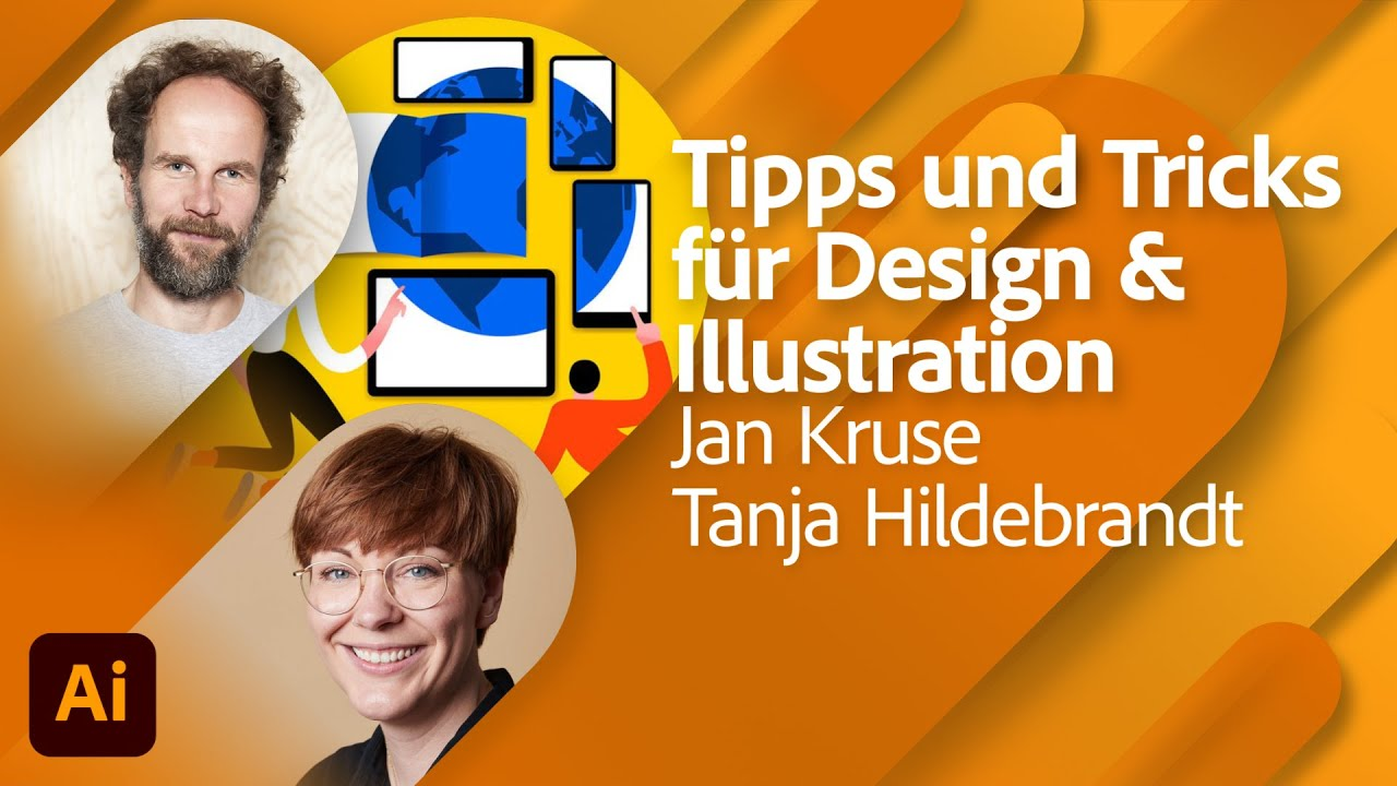 Illustration in Adobe Illustrator mit Jan Kruse und Tanja Hildebrandt |Adobe Live