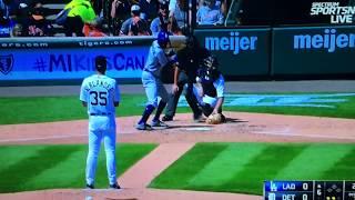 Granderson Homerun breaks up Verlander No Hitter Dodgers Vs Tigers