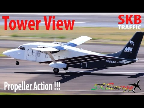 Tower View !!! Propeller Action, BN-2 Islander, Twin Otter,