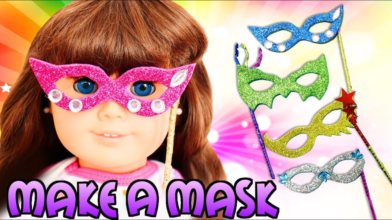 How to make american girl doll mask easy doll crafts for Easy american girl doll crafts