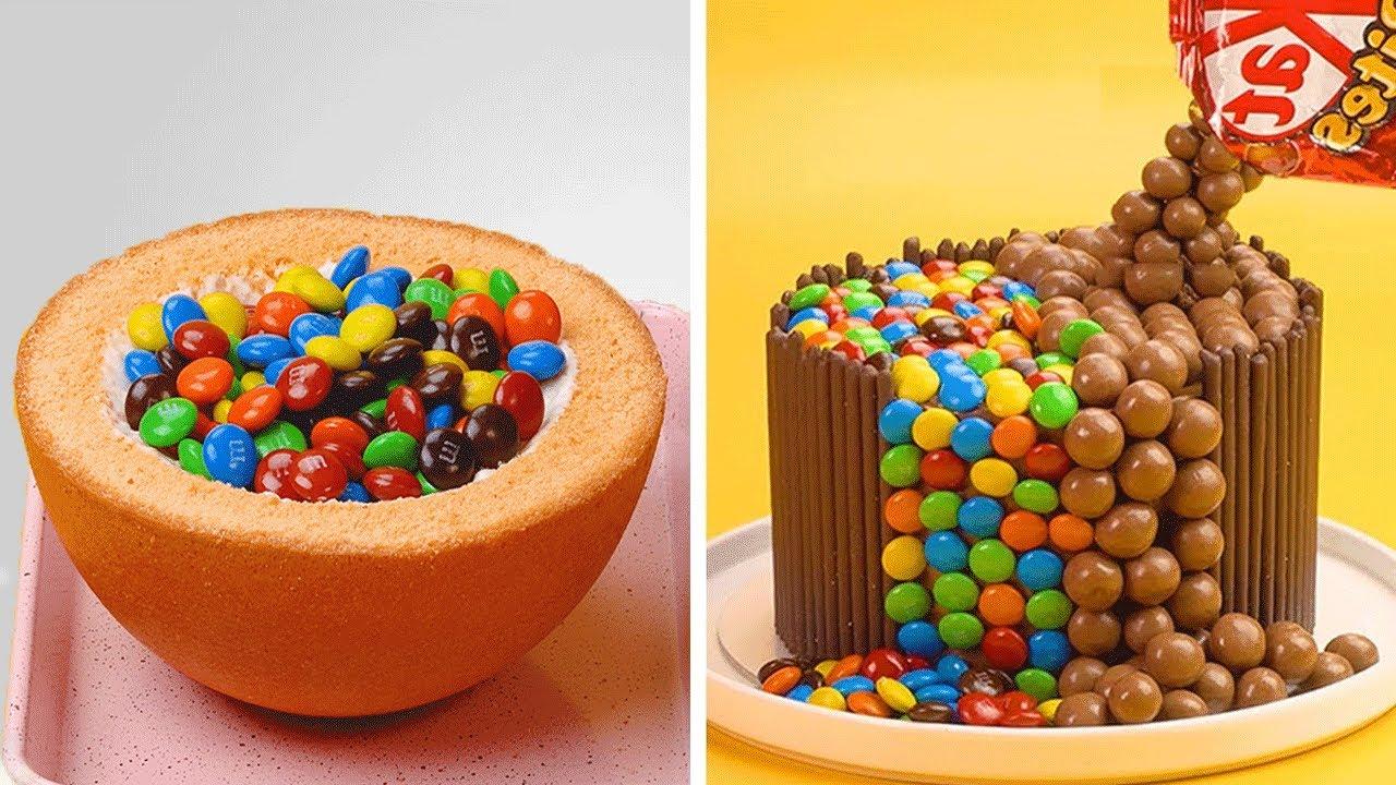 So Tasty Rainbow Chocolate Cake Decorating Ideas | Chocolate Cake Hacks | Yummy Cake Compilation