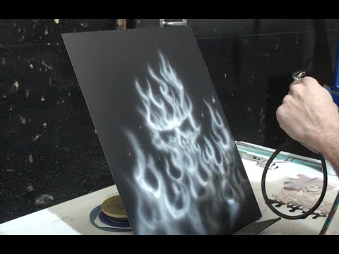 How To Paint Ghost Flames With Water Based Paint Youtube