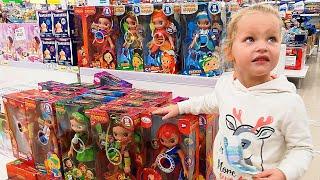 Что купит Настя на 1000р   Family VLOG   Много игрушек   Детский мир   Шопинг влог   Кукла ЛОЛ