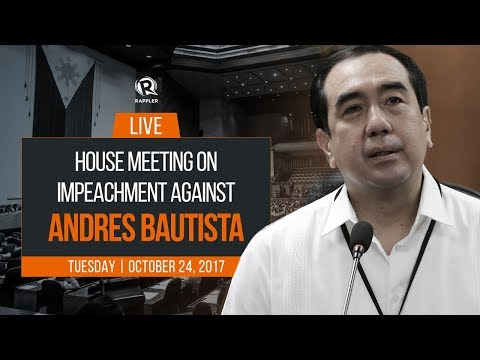 LIVE: House meeting on impeachment against Comelec chair Andres Bautista