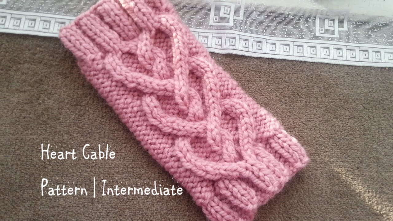 heart cable pattern intermediate youtube