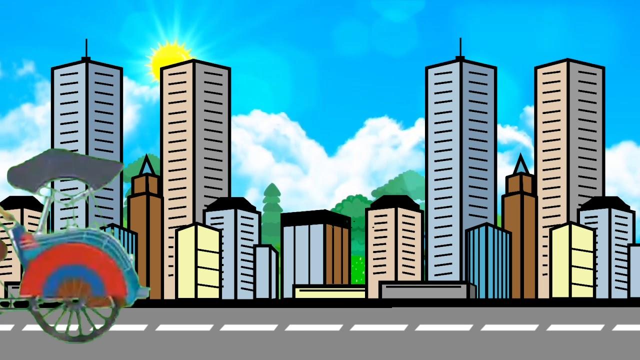 Background Video Animasi Bergerak No Copyright Latar Gedung Tinggi Kota Free Download Youtube