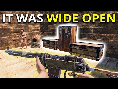 He Left His Base Wide Open! - Rust Solo Survival Gameplay