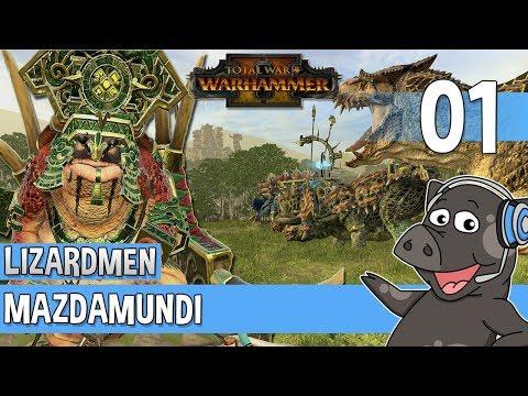LETS GET PREHISTORIC! - Total War Warhammer 2 - Lizardmen Campaign - Mazdamundi #1