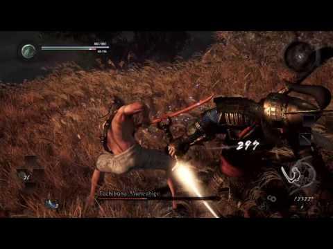 Nioh Beta [Tachibana Muneshige Boss] Iaido Duel - LVL 1 Wooden Sword No Damage